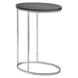 "Monarch Specialties Xavier Accent Table, 25""H x 12""W x 18-1/2""D, Gray/Chrome"