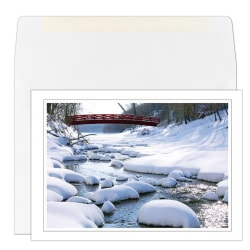 """Custom Full-Color Holiday Cards With Envelopes, 7"""" x 5"""", Meandering, Box Of 25 Cards"""