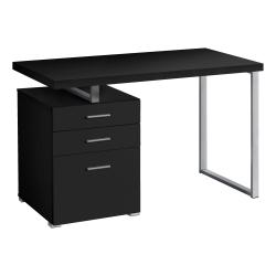 """Monarch Specialties Melody 48""""W Computer Desk, Black/Silver"""