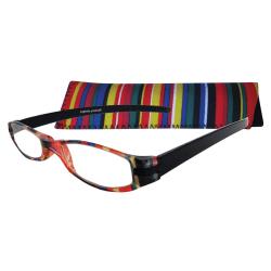 Zoom Eyeworks Reading Eyewear, Expressions Neoprene Multi-Stripe, +2.50