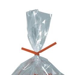 "Partners Brand Paper Twist Ties, 5/32"" x 10"", Orange, Case Of 2,000"