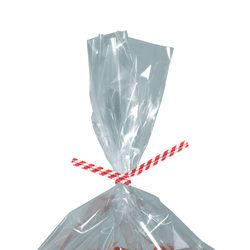 "Partners Brand Paper Twist Ties, 5/32"" x 10"", Red Stripe, Case Of 2,000"