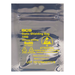 "Office Depot® Brand Reclosable Static Shielding Bags, 10"" x 14"", Transparent, Case Of 100"