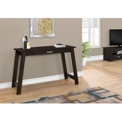Monarch Specialties Computer Desk With Storage Drawer, Cappuccino