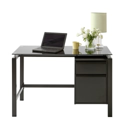 "Realspace® Lake Point 46""W Writing Desk, Black"