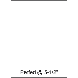 """Lettermark™ Custom Cut Sheets, Letter Size, Perforated At 5 1/2"""", 20 Lb, 500 Sheets Per Ream, Pack Of 5 Reams"""