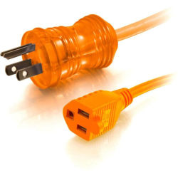 C2G 8ft 16 AWG Hospital Grade Power Extension Cord (NEMA 5-15P to NEMA 5-15R) - Orange - 125 V AC Voltage Rating - 13 A Current Rating - Orange