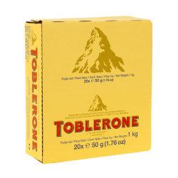 Toblerone Milk Chocolate Bars, 1.76 Oz, Pack Of 24 Bars