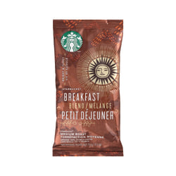 Starbucks® Breakfast Blend Ground Coffee, 2.5 Oz, Box Of 18 Packets