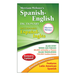Merriam-Webster's Spanish-English Dictionary, Pack Of 3