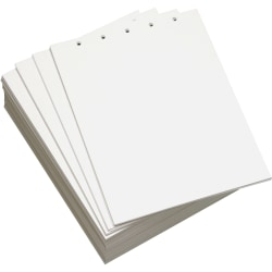Lettermark™ Custom Cut Sheets, Letter Size, Prepunched Top, 5-Hole, 20 Lb, 500 Sheets Per Ream, Pack Of 5 Reams