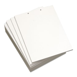 Lettermark™ Custom Cut Sheets, Letter Size, Prepunched Top, 2-Hole, 20 Lb, 500 Sheets Per Ream, Pack Of 5 Reams