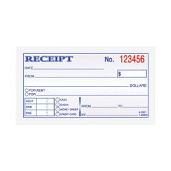 "TOPS® Carbonless Money Receipt Book, 2 Part, 2 3/4"" x 5"", Set Of 50 Sheets"