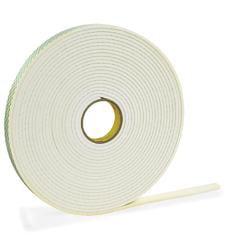 """3M® 4466 Double Sided Foam Tape, 1/2"""" x 5 Yd., White, 1/16"""""""