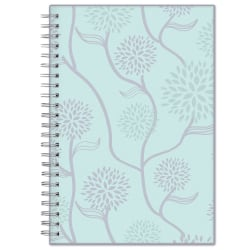 """Blue Sky™ Frosted Weekly/Monthly Safety Wirebound Planner, 5"""" x 8"""", Rue Du Flore, January To December 2022, 101603"""
