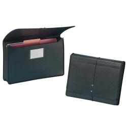 "5-1//4/"" Black Smead Premium Poly Premium Expanding File Wallet with  Closure"