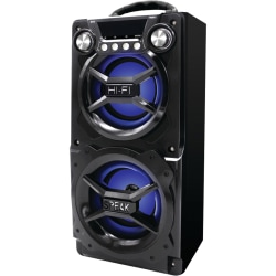 Sylvania SP328 Bluetooth Speaker System - Black - Battery Rechargeable