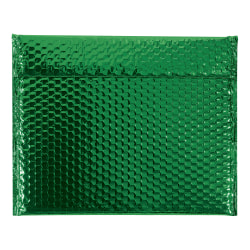 """Office Depot® Brand Glamour Bubble Mailers, 11""""H x 13-3/4""""W x 3/16""""D, Green, Case Of 48 Mailers"""
