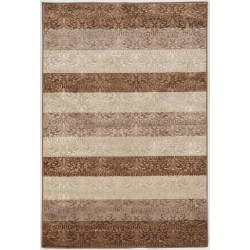 """Linon Home Décor Products Banyon Area Rug, 5' x 7' 6"""", Harmon Stripes, Beige/Brown"""