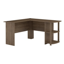 Ameriwood™ Home Dakota L-Shaped Desk With Bookshelves, Rustic Oak