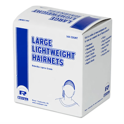 Royal Paper Products Nylon Hairnets, Black, Pack Of 20 Hairnets