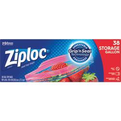 Ziploc® Plastic Double Zipper Storage Bags, 1 Gallon, Clear, Box Of 38 Bags