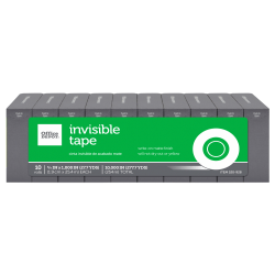 "Office Depot® Brand Invisible Tape Refills, 3/4"" x 1,000"", Pack Of 10"