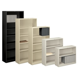 HON® Brigade® Steel Bookcase, 2 Shelves, Light Gray