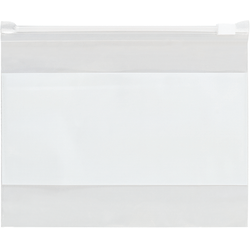 """Office Depot Brand 3 Mil Slide-Seal Reclosable White Block Poly Bags 9"""" x 12"""", Box of 100"""