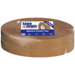 """Partners Brand Industrial Heavy-Duty Adhesive Transfer Tape 1/2"""" x 18 yds., 2 Rolls Per Case"""