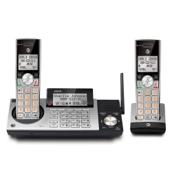 AT&T CL83215 2 Handset DECT 6.0 Cordless Phone with Digital Answering System