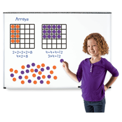 Learning Resources Giant Magnetic Array Set - Theme/Subject: Learning - Skill Learning: Multiplication, Addition, Number - 52 Pieces - 7+ - 1 Set