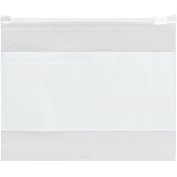 "Office Depot® Brand 3 Mil Slide-Seal Reclosable White Block Poly Bags 4"" x 6"", Box of 100"