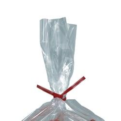 "Partners Brand Plastic Twist Ties, 5/32"" x 12"", Red, Case Of 2,000"