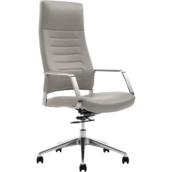 True Commercial Phoenix Mesh/Fabric High-Back Executive Chair With Headrest, Teal/Off-White