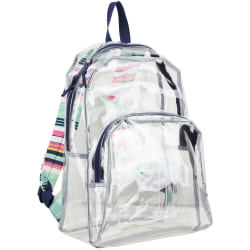 Eastsport Clear PVC Backpack, Candy Stripe