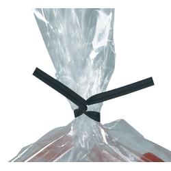 "Partners Brand Plastic Twist Ties, 5/32"" x 12"", Black, Case Of 2,000"