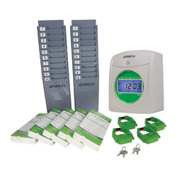 uPunch™ UB1000 Electronic Punch Card Time Clock Bundle