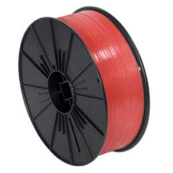 "Partners Brand Plastic Twist Tie Spool, 5/32"" x 7,000', Red"