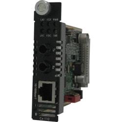 Perle C-110-M2ST2 Fast Ethernet Meda Converter - 1 x Network (RJ-45) - 1 x ST Ports - 10/100Base-TX, 100Base-FX - Internal