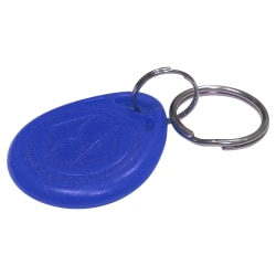 """uAttend RFR25 RFID Fobs, 4.3"""" x 4.6"""" x 2.3"""", Blue, Pack Of 25"""