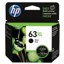 HP 63XL High Yield Original Ink Cartridge, Black (F6U64AN)