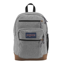 """JanSport® Cool Student Backpack With 15"""" Laptop Pocket, Gray Letterman Poly"""