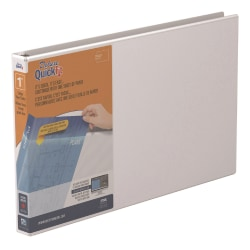 """Stride® QuickFit® Overlay 3-Ring Binder, 1"""" D-Rings, 59% Recycled, White"""