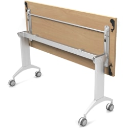 """Special-T Link 60"""" Table Flip Base - Metallic Silver Flip Base - 27.75"""" Height x 17.50"""" Width - Assembly Required"""