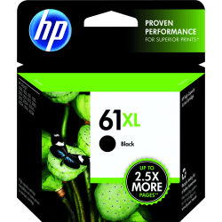 HP 61XL High Yield Original Ink Cartridge, Black (CH563WN)