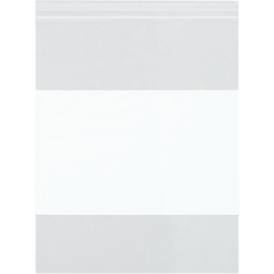 """Office Depot Brand 2 Mil White Block Reclosable Poly Bags 14"""" x 20"""", Box of 500"""