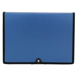 "Office Depot® Brand Plastic Expanding File, 7 Pocket, Expansion 6"", 8 1/2"" x 11"", Letter, Dark Blue, Pack of 1"