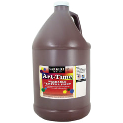 Sargent Art® Art-Time Washable Tempera Paint, 1 Gallon, Brown
