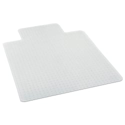 "Deflecto® Glass Clear Chair Mat, For Medium Pile Carpets, With Lip, 36"" x 48"", Clear"